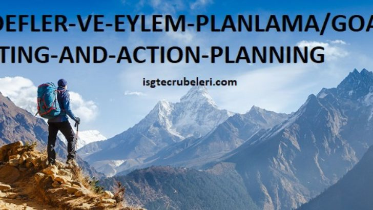 HEDEFLER VE EYLEM PLANLAMA / GOAL SETTING AND ACTION PLANNING
