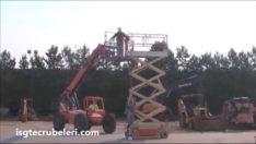 Manlift personel yükseltici kazası düşme deneyi