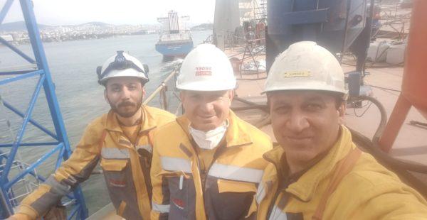 I work in the shipyard