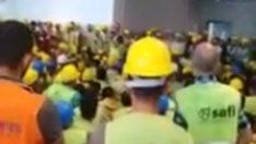 Yüksekten düşme iskele kolunu sokme. Do not remove scaffolding equipment