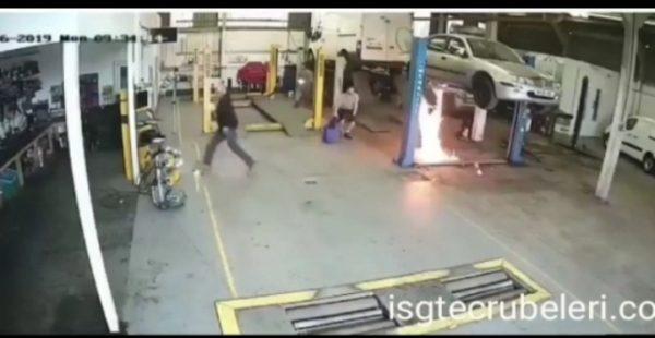 Yanlış yangın söndürme.