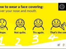 Virüs maskesini takarken ağzını ve burnunu tamamen kapat.