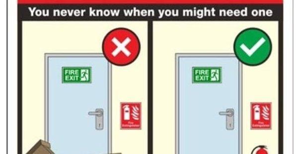 Acil durum kaçış kapıların önünü herzaman açık tut ve kilitleme.